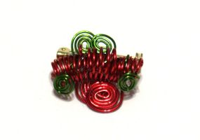 Red and Green Coil Pin by cakhost