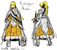Concept: Lucy Avenger Armor by PeterPrime