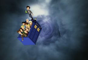11 doctors in the tardis by CPD-91