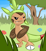 A Wild Chespin Appears! by SoSaucy