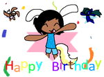 happy birthday an thing by Xxpets-world-14xX