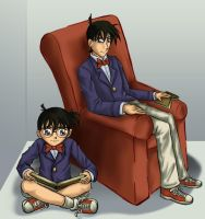 Conan and Shinichi by bladesfire