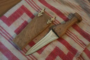 Bronze age dagger and sheath by Dewfooter