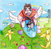 Flying through the Fantasy Zone ~ Opa Opa by Reallyfaster