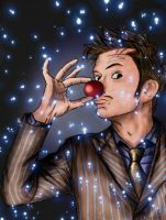 David Tennant Red Nose In Colours by chriscastielredy