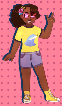 .: original character:. girl with sunglasses (???) by Angry-Green-Pie