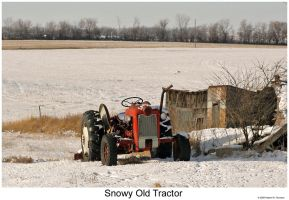 Snowy Old Tractor by hunter1828