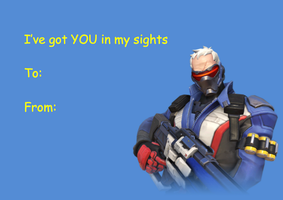 Overwatch Valentine's Day Card - Soldier: 76 by DovahTheDragonborn