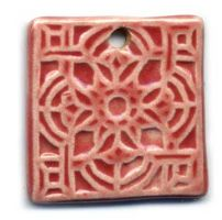 Coral Porcelain Pendant by ChinookDesigns