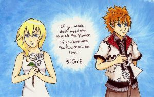 siGrE-Namine and Roxas by fullxmetalxgir