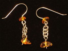 Amber Earrings by Kithplana