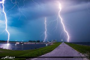 Lightning-Storm-Over-Lake-Okeechobee-Port-Maya by CaptainKimo
