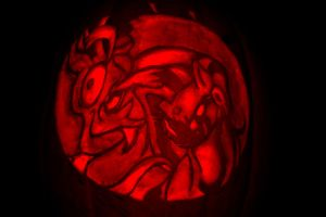 Discord Ayasha Pumpkin Carving by eleanart-approved