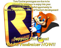 Support The Great RARE Fundraiser by ConkerGuru