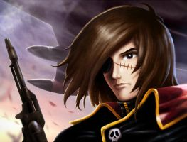 captain harlock by moonxels