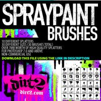 HiRes - PS7 Splatter Brushes by KeepWaiting
