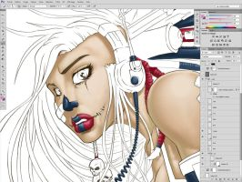 Artbook cover WIP by Vinz-el-Tabanas