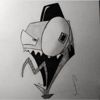 Invader Zim by Creaturefeaturefan10