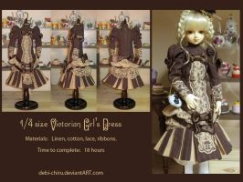 1:4 Victorian Girl's Dress by Fylgjur