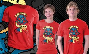 'Red on You' shirt at Teefury by nakedDerby