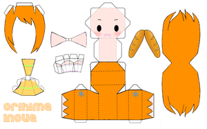 Orihime Inoue Papercraft by loly-chan123