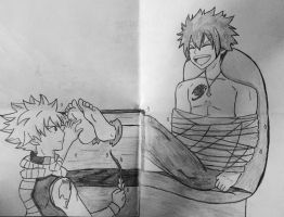 Natsu tickles Gray by animeshipper123