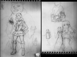 Adult Annie Sketches by EPBJewelry