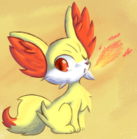 Fennekin by Tami-Kitten