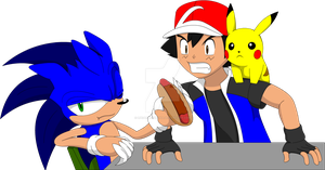 Pokeson - Argue over Chilidogs by LucarioShirona