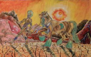 Earth-Man, Earth-Steed, and the Visceral Valley by CaelanTheAlien