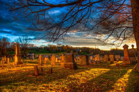 Moravian Cemetary Sunset by pennuja
