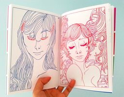 Beauties in Notes Art Book by artisticyeh001