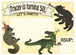 Tracey's 50th invite by SilkenCat