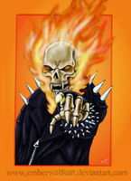 Request: Ghost Rider by EmberWolfsArt
