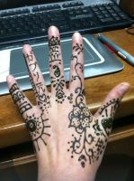 Back of First Henna Hand by Wintaria