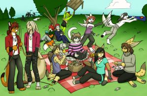 Picnic Group by Neko-Maya