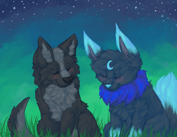 your fur reminds me of the sky by UmbreRoshia