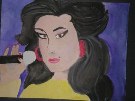 Amy Winehouse Watercolor by GretchElise