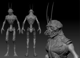District 9 Alien WIP 3 by Grimnor