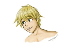 Shirtless Blonde Sketch by sapphiresky1410