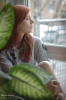 Leatitia at the window - 1 by Niemans