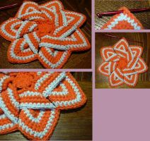 Flower hot pad by knotsme