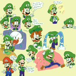 Luigi Doodles: Now in Color! by bulgariansumo