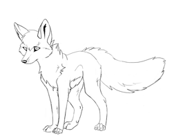 free wolf line art 1 by Wiggans-Adopts