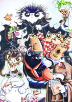 Funny cat Endless sandman by KingZoidLord