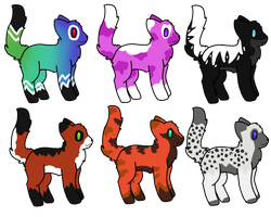 Adoptables! :D by adoptables100