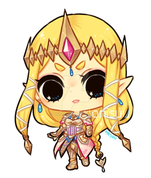 hyrule warriors -- Zelda (+spdpaint) by onisuu