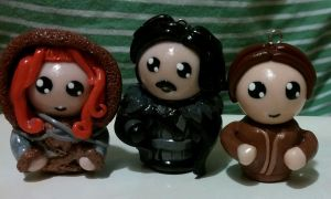 Game of Thrones Chibi Ornaments / Charms by ShadyDarkGirl