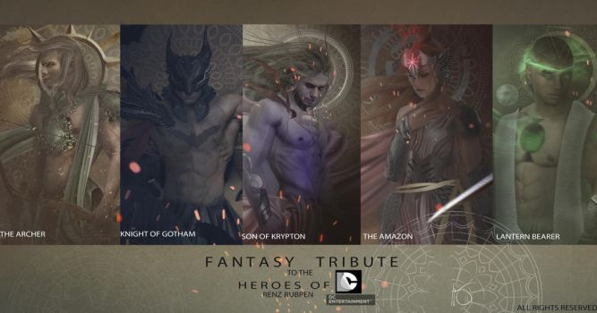 FANTASY TRIBUTE-- JUSTICE LEAGUE (ALMOST COMPLETE) by renz-rubpen