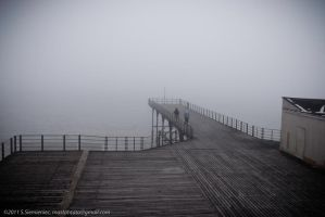 misty pier by mastahtata